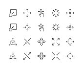 istock Line Scaling Icons 1214958017