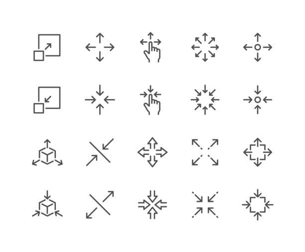 line scaling icons - heben stock-grafiken, -clipart, -cartoons und -symbole