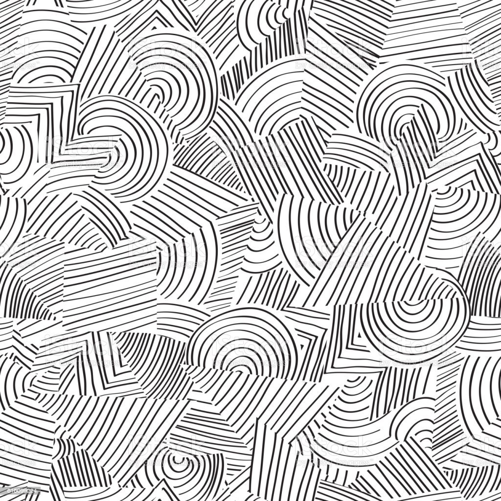 Texture Line Art : Line seamless pattern abstract geometric ornament doodle