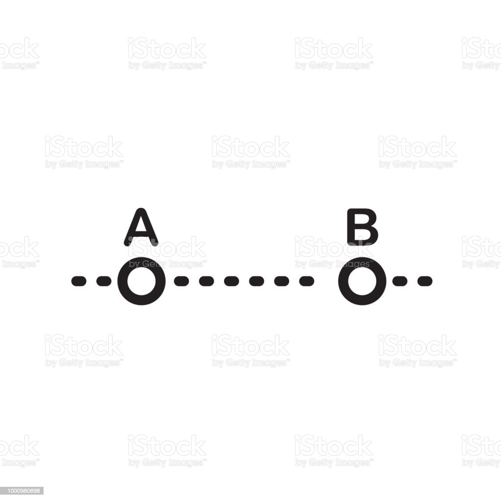 Line Segment Icon Vector Sign And Symbol Isolated On White