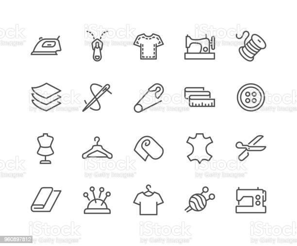 Line sewing icons vector id960897812?b=1&k=6&m=960897812&s=612x612&h=qtbldqlnw2z8uz4o0lcko0i8zbrau9vbrgiqhkb0uuo=