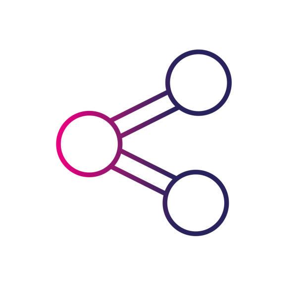 line share social media sign icon vector art illustration