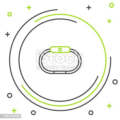 Line Smartwatch icon isolated on white background. Colorful outline concept. Vector.