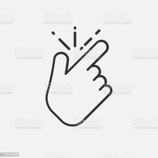 Line snap finger like icon isolated on white background vector vector id1133540958?b=1&k=6&m=1133540958&s=612x612&h=ewt1vf2kbmwt7hlyd67b4f pmnycmvflnbgeqm b2vu=