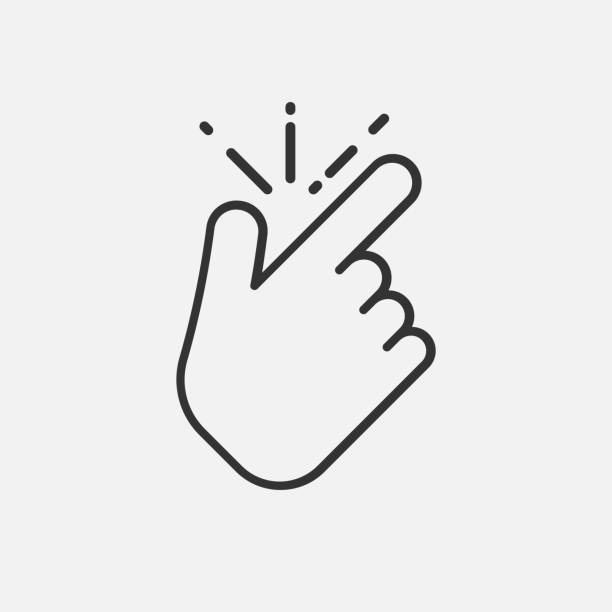 line snap finger like icon isolated on white background. Vector illustration. line snap finger like icon isolated on white background. Vector illustration. Eps 10. smooth stock illustrations