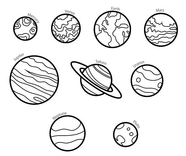 Drawing Vector Lines In Photo Cs : Mercury planet clip art vector images illustrations