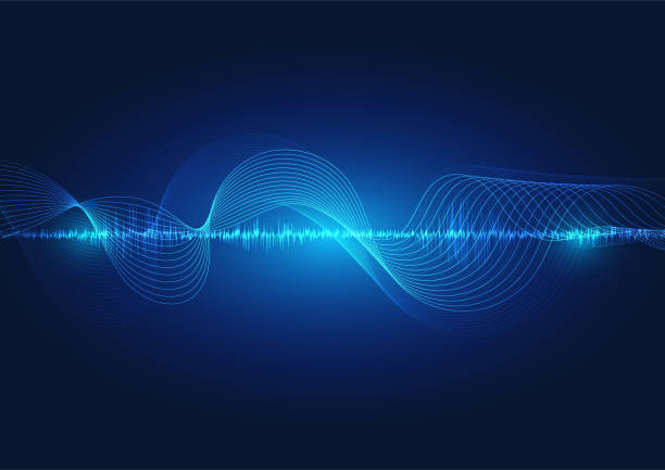 line soundwave abstract background - rytm stock illustrations