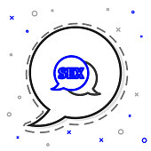 Line Speech bubble with text Sex icon isolated on white background. Adults content only icon. Colorful outline concept. Vector Illustration