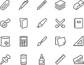 Line Stationery Icons