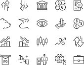 Line Stock Market Icons