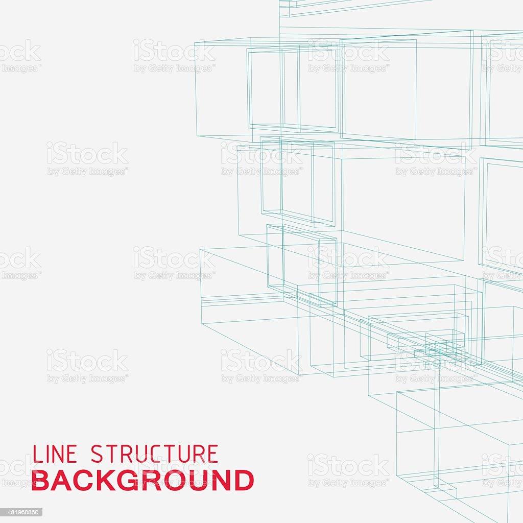 line structure background vector art illustration