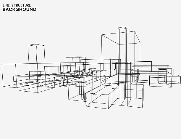 illustrations, cliparts, dessins animés et icônes de structure de fond de ligne - architecture