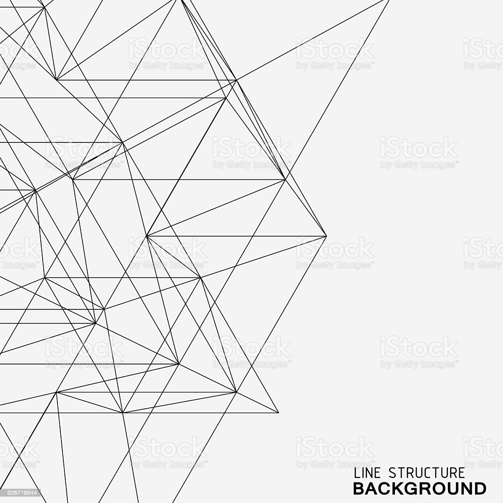 Line Drawing Vector Graphics : Line structure background stock vector art more images