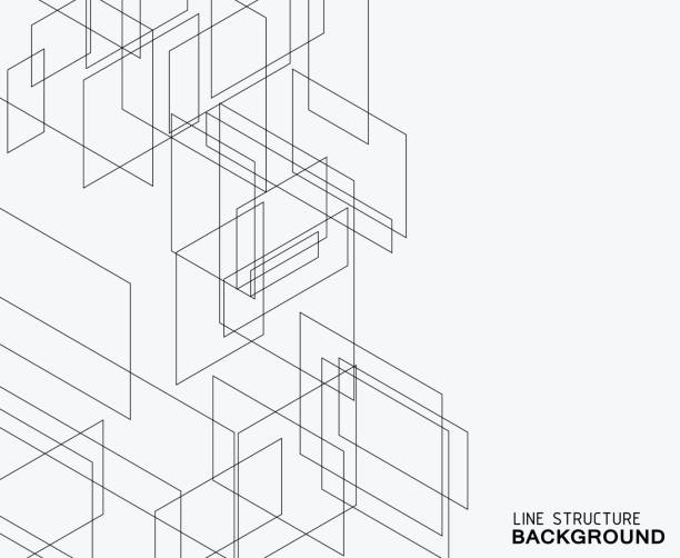 line structure background - abstract architecture stock illustrations