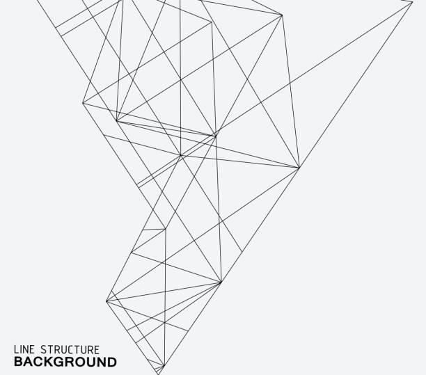 Estrutura de linha de fundo - ilustração de arte em vetor