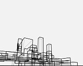line style city architecture structure