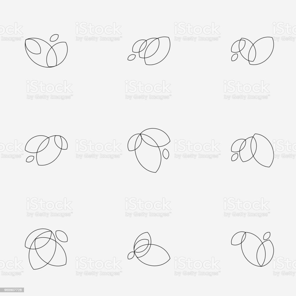 lijn floral stijlicoon - Royalty-free Abstract vectorkunst