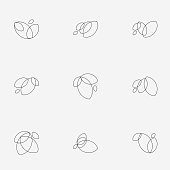 line style floral icon