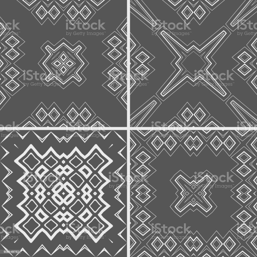 Line style textures pattern collection vector art illustration