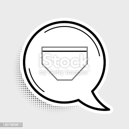 Line Swimming trunks icon isolated on grey background. Colorful outline concept. Vector