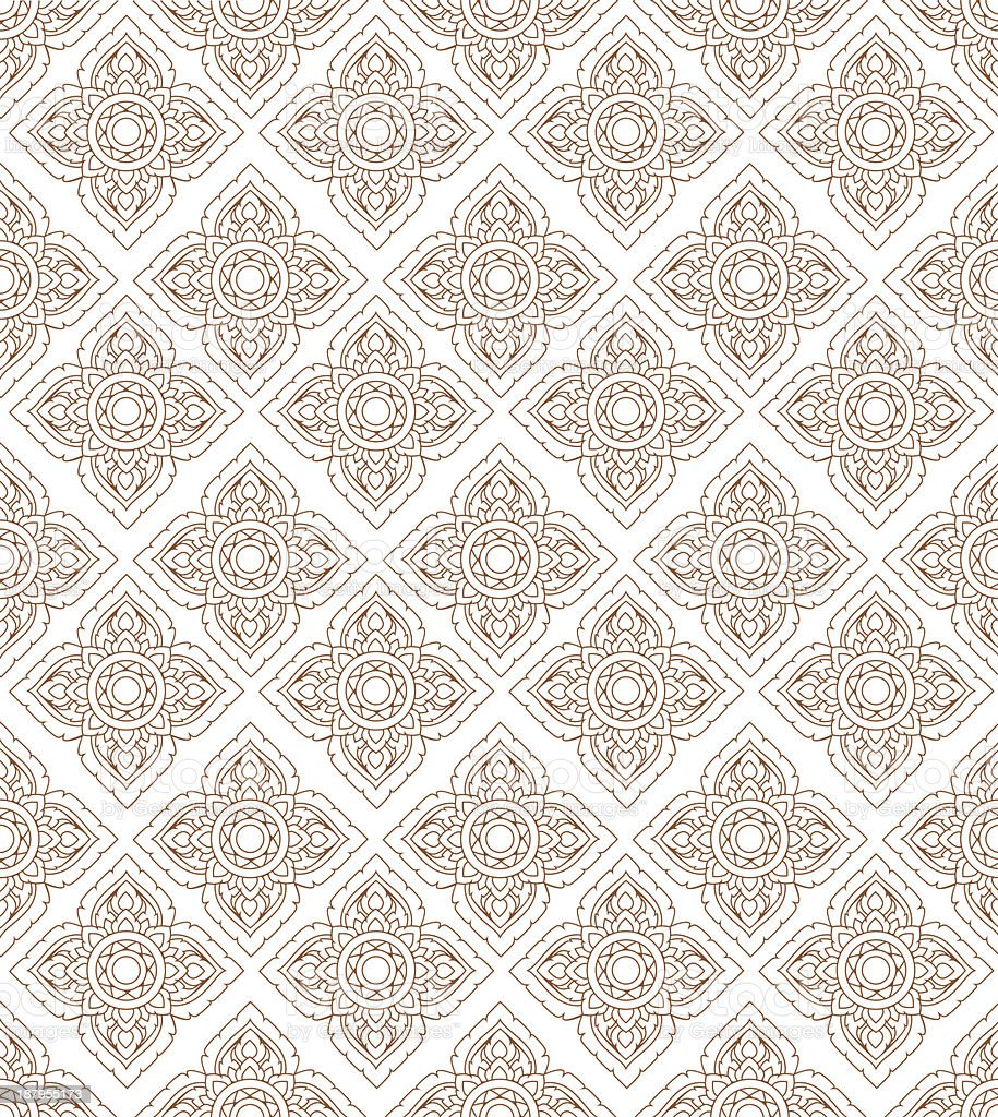 Line thai art pattern illustration. vector art illustration