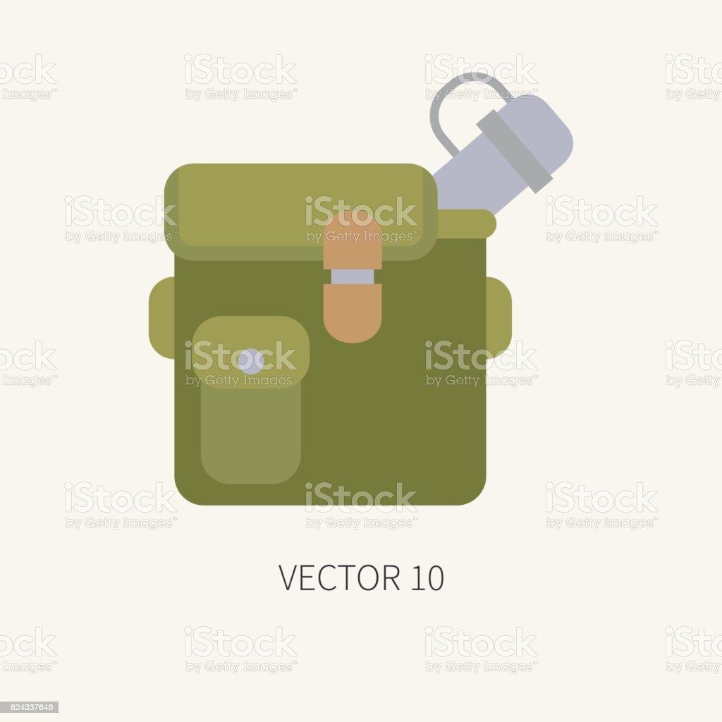 Ilustración de Línea De Azulejo Color Vector Caza Y Camping De Icono ... e41e98c58b4