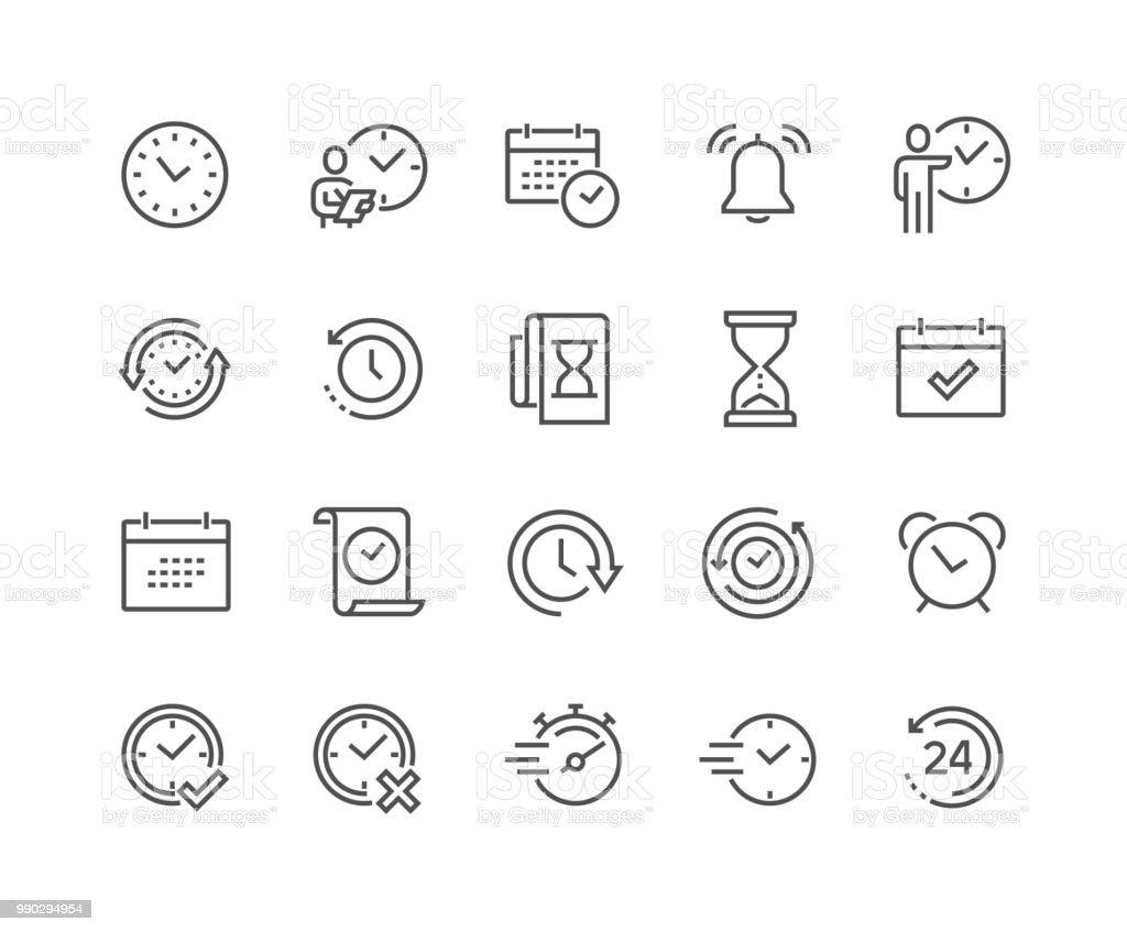 Lijn tijd pictogrammen - Royalty-free Aaien vectorkunst