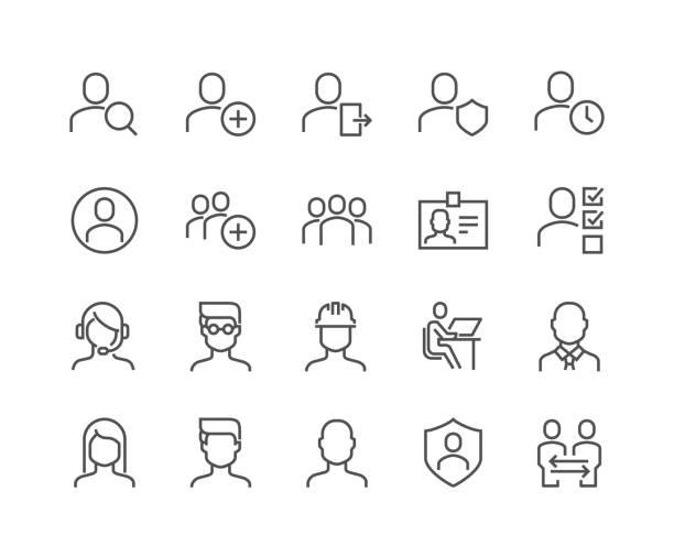 satır kullanıcı simgeleri - telefon kullanımı stock illustrations