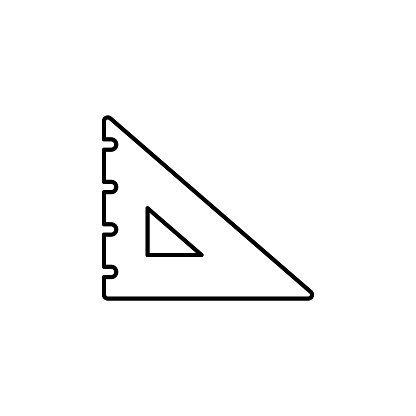 Line vector icon degree square, drafting, geometry tool. Outline vector icon