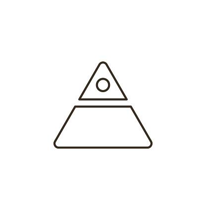 Line vector icon finance pyramid. Outline vector icon