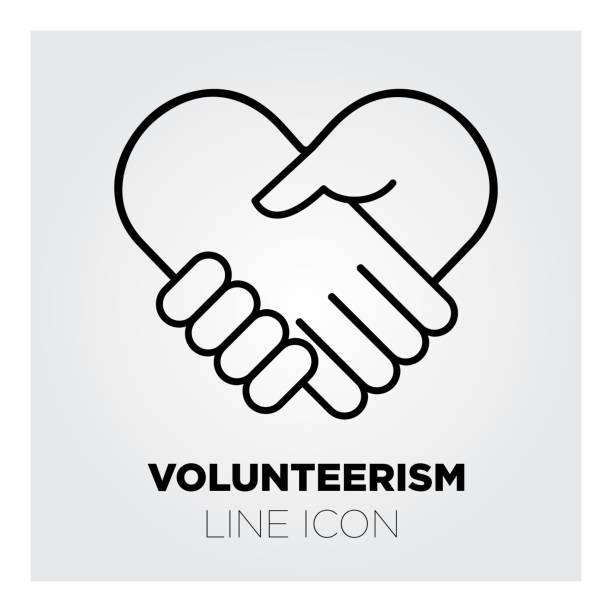 Line vector icon illustration of volunteerism. vector art illustration