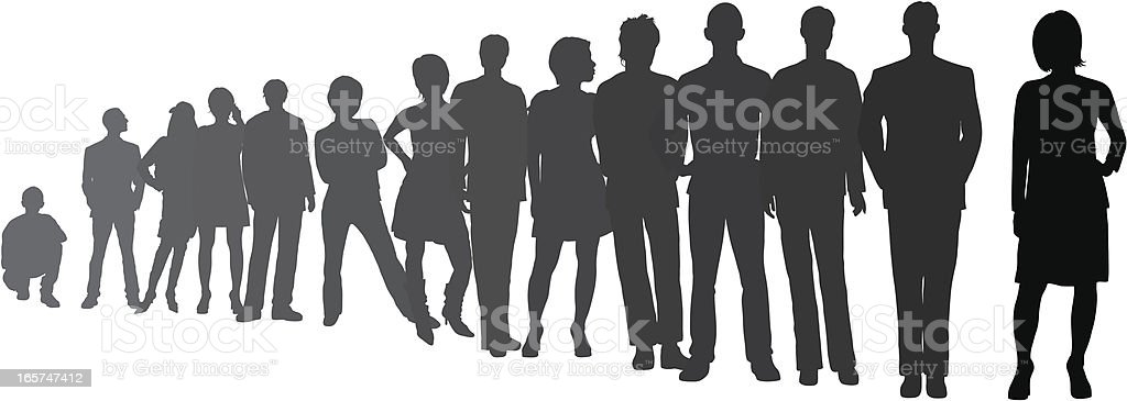 Line (People Are Detailed, Moveable and Complete) vector art illustration