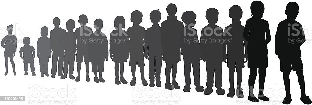 Line (Moveable, Complete Children) royalty-free stock vector art