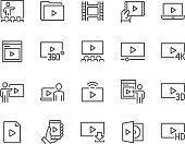 Line Video Icons