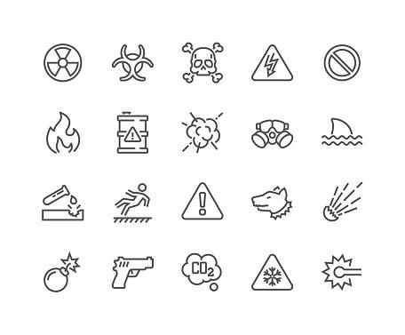 Line Warnings Icons