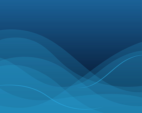 Line Wave With Dark Blue Color Abstract Background In Flat