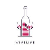 istock Line Wineglass and Bottle Icon 1276360127