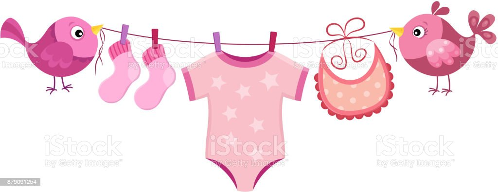 royalty free silhouette of a baby clothesline clip art vector rh istockphoto com baby clothes clothesline clipart baby girl clothesline clipart