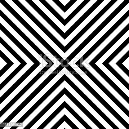 Line zigzag x chevron pattern background. Vector eps10