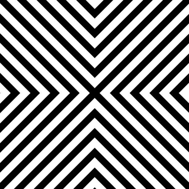 Line zigzag x chevron pattern background Line zigzag x chevron pattern background. Vector eps10 black and white stock illustrations