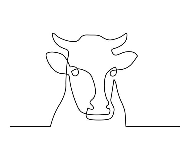line10 - cow stock illustrations, clip art, cartoons, & icons