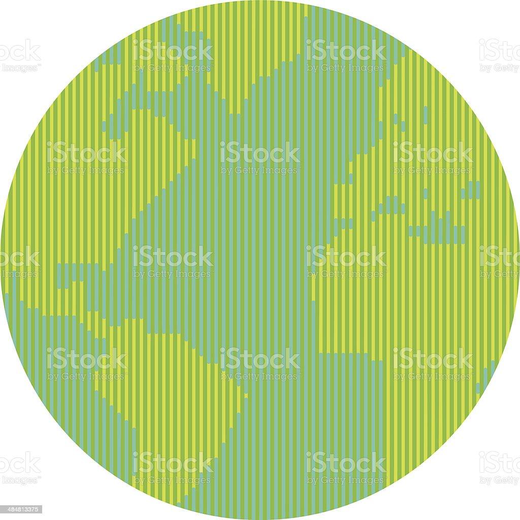 Lineal world vector art illustration