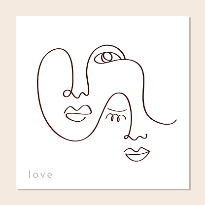 Linear abstract couple faces