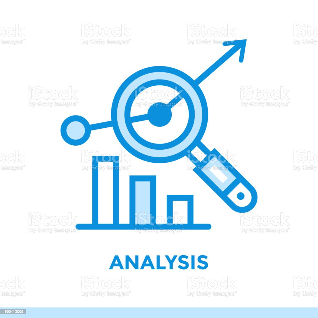 Linear analysis icon for new business. Pictogram in outline style. Vector modern flat icon suitable for print, presentation and website linear analysis icon for new business pictogram in outline style vector modern flat icon suitable for print presentation and website - stockowe grafiki wektorowe i więcej obrazów bez ludzi royalty-free