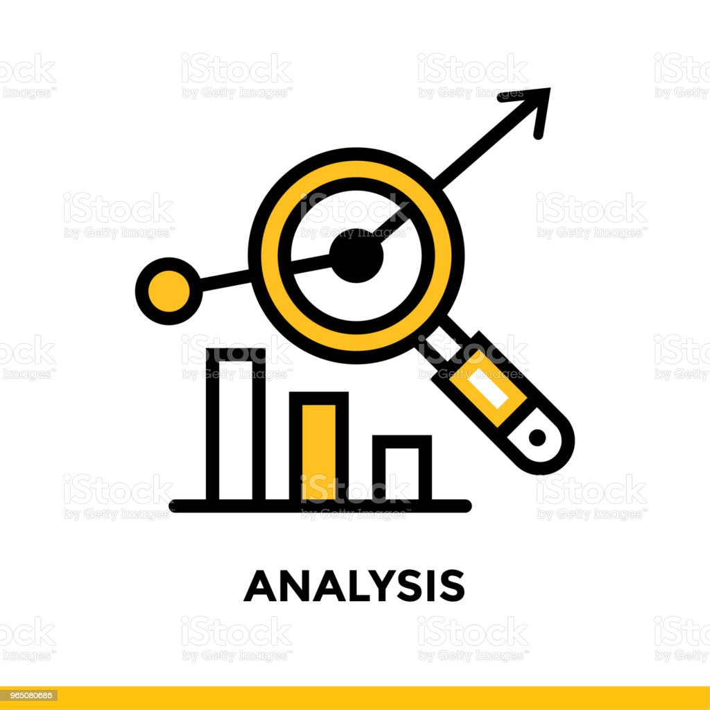 Linear analysis icon for startup business. Pictogram in outline style. Vector flat line icon suitable for mobile apps, websites and presentation linear analysis icon for startup business pictogram in outline style vector flat line icon suitable for mobile apps websites and presentation - stockowe grafiki wektorowe i więcej obrazów bez ludzi royalty-free
