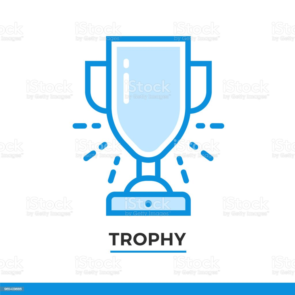 Linear award icon. Pictogram in outline style. Vector modern flat design element for mobile application and web design. royalty-free linear award icon pictogram in outline style vector modern flat design element for mobile application and web design stock vector art & more images of award