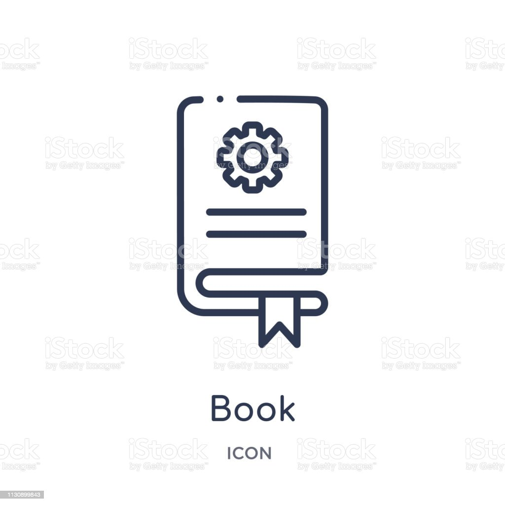 Linear book icon from Artifical intelligence outline collection. Thin line book vector isolated on white background. book trendy illustration vector art illustration