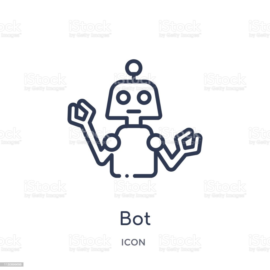 Linear bot icon from Artifical intelligence outline collection. Thin line bot vector isolated on white background. bot trendy illustration vector art illustration