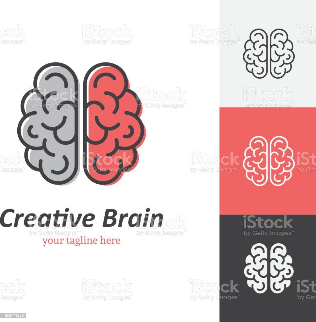 Linear brain icon - illustrazione arte vettoriale