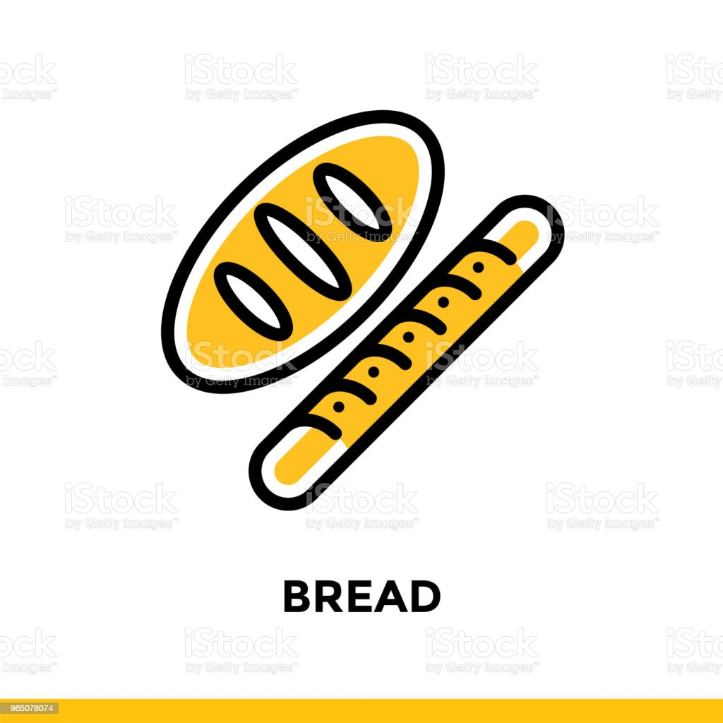 Linear BREAD icon. Vector elements suitable for website and presentation royalty-free linear bread icon vector elements suitable for website and presentation stock vector art & more images of bakery